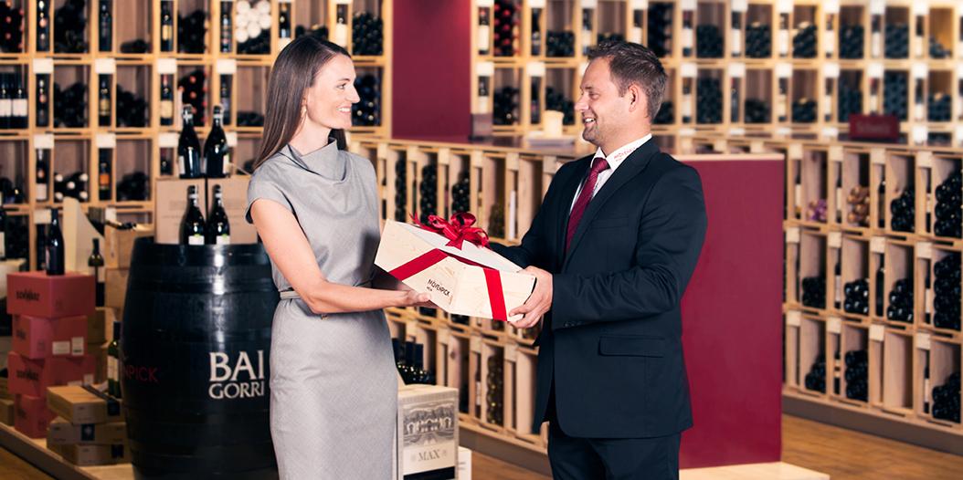 Geschenkservice von Mövenpick Wein