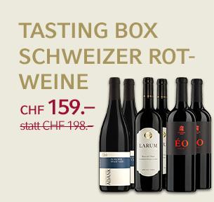 Tasting Box Schweizer Rotweine