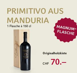 Palmenti Vigne Vecchie, Primitivo di Manduria DOP, Cantine San Marzano