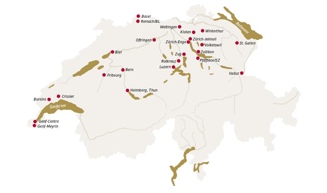 Emplacements de Mövenpick
