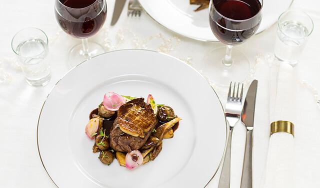 Wine & Dine: Filet garniert
