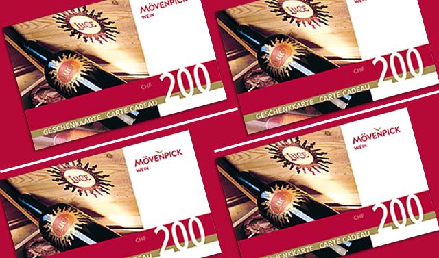 Geschenkkarte im wert von CHF 200